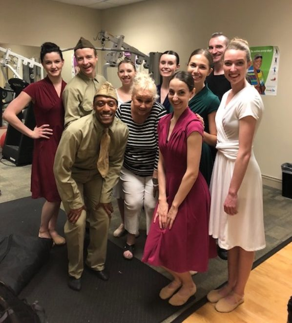 The performers from The Big Muddy Dance Company helped bring the joy of dancing to the Parkview Place Apartments residents.