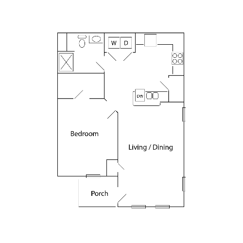 The Village at Winding Road II | 1 Bed, 1 Bath