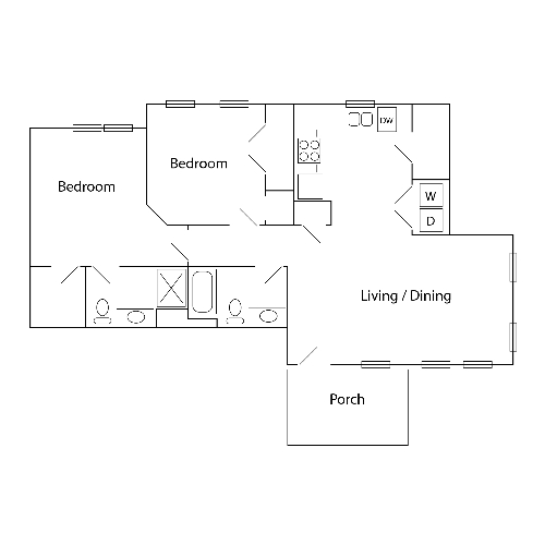 The Village at Winding Road II | 2 Bed, 2 Bath
